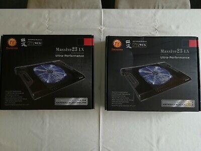 Thermaltake Massive 23LX Laptop Notebook Cooler Blue LED Fan - NEW - BOXED