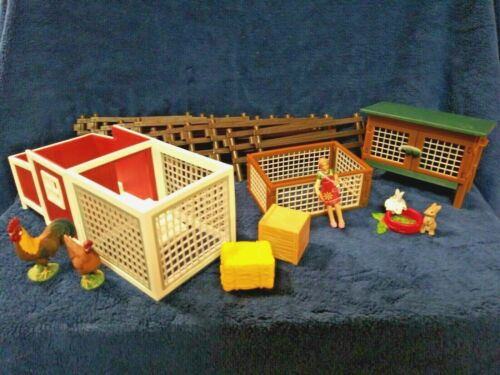 Schleich Farm World: Rabbits, Chicken Coop, Paddock Fence Sets