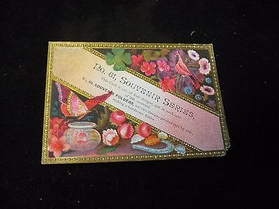 1800's No. 61 Souvenir Series Butterfly Bird Raised Design Victorian Trade Card  - Butterfly Trade
