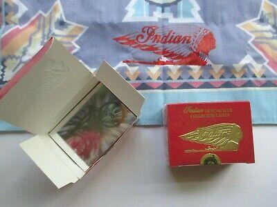 LOT OF (2) INDIAN MOTORCYCLE BANDANA AND TRADING CARD SETS