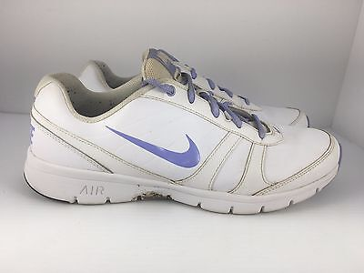 NIKE Total Core TR Women US 10 White + Periwinkle Athletic Running Shoes  J30