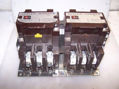 CUTLER HAMMER 120 AMP REVERSING CONTACTOR C32JN3  COIL 480 VAC
