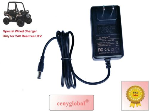 24V AC Power Adapter for Dynacraft Realtree UTV Ride on 4x4 Real Tree Buggy Dyna