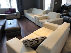 Top Grain Leather Sofa, Loveseat, and Chair - BRAND NEW