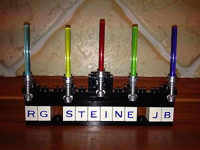 Lego® Star Wars™ 5 x Laserschwert Lichtschwert in 5 Farben NEU Waffe Yoda™ W13 ()