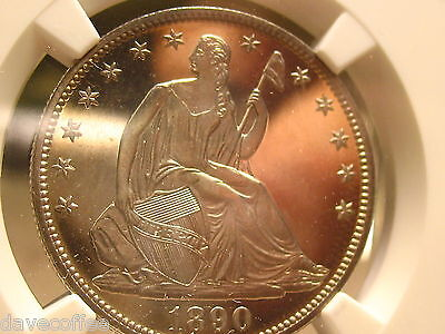 1890 SEATED LIBERTY HALF DOLLAR NGC PF 66 CAMEO PERFECTION TO VIEW