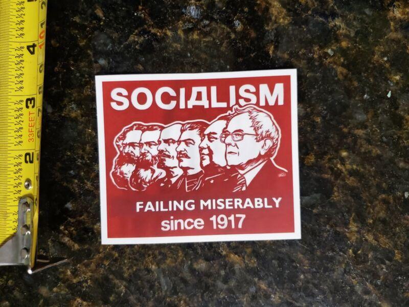 Funny Political sticker Bernie Sanders Democratic SOCIALISM SUCKS 2020 PRO TRUMP
