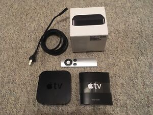 Apple TV with Remote and Power Cord Works Excellent