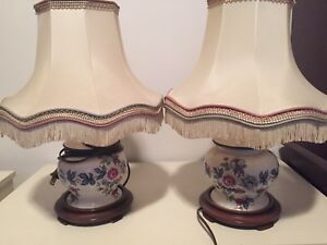 Two antique lamps