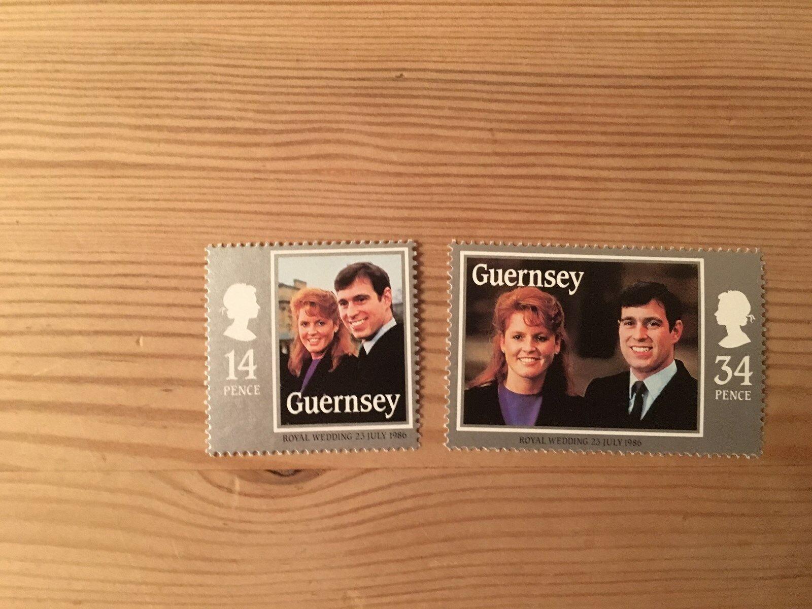 GUERNSEY 1986 MNH SG 369-70 ROYAL WEDDING ROYALTY PRINCE ANDREW FERGIE