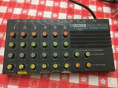Boss BX-600, 6 Channel Stereo Mixer, Vintage Unit