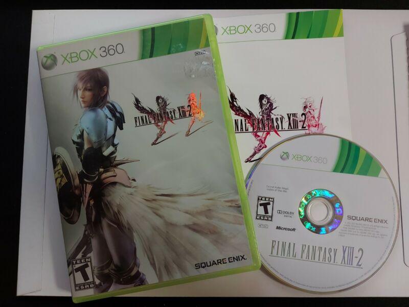 Final Fantasy XIII-2 13-2 (Microsoft Xbox 360, 2012) Tested CIB Complete Manual
