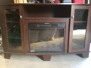 Electric fireplace and media cabinet