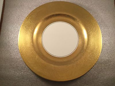 """10.75"""" PICKARD CHINA GOLD ENCRUSTED FLORAL 2025 PORCELAIN DINNER PLATE CHARGER"""