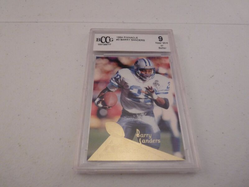 Barry Sanders 1994 Pinnacle BCCG BECKETT Graded #3 Football Card MINT 9