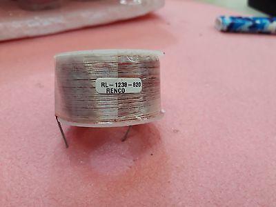 Lot X 10  Rl-1238-820 Renco Air Core Inductors H  820.0 Ohms 0.6420