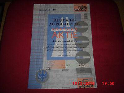 Deutsche Autobahn AG Vorzugsaktie (Jux-Papier) von 1993 L/U/S/W-Verlachsges. A4