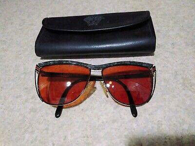 Vintage Gucci GG 2300 Black/gray/Gold Tortoise Eyeglasses Frames - Italy Case