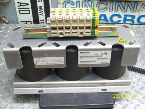 SIEMENS 6SN1111-0AA00-0CA1 3-PHASE LINE REACTOR
