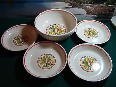 SET OF 5 EXCL FOR HIMARK - MADE IN ITALY PASTA ITALIA BOWLS