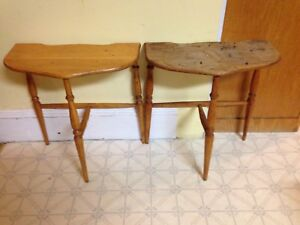 Pair of Antique Half Moon Table, Perfect For Fat Painting