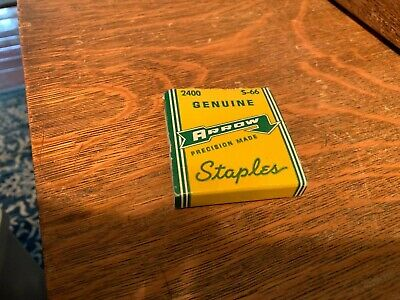 Vintage Arrow Staples No. S-66 Precision Made Nos 2400 Count Great Advertising