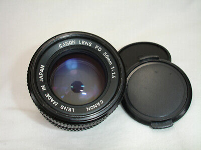 CANON FD 50mm f 1.4 lens.  Works good!  Sn4773448