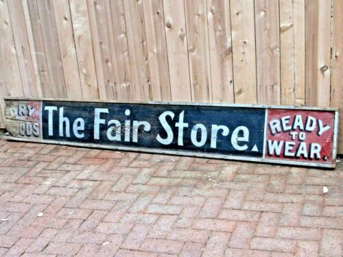 Antique Large Hand Painted Wood General Store Advertising Sign c.1880