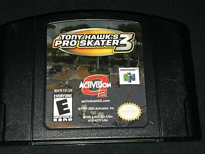 Tony Hawk's Pro Skater 3 (Nintendo 64, 2002) Cleaned / Tested / Authentic N64