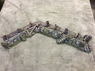 28 mm Pirate Terrain 4 Piece Set With Barricades And Destroyed Palm (4 Piece Pirate Set)