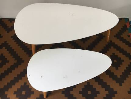 Two Oval Coffee Tables