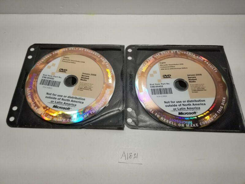 Visual Studio 2008 Professional Edition + SQL Server 2005 Developer Edition A18