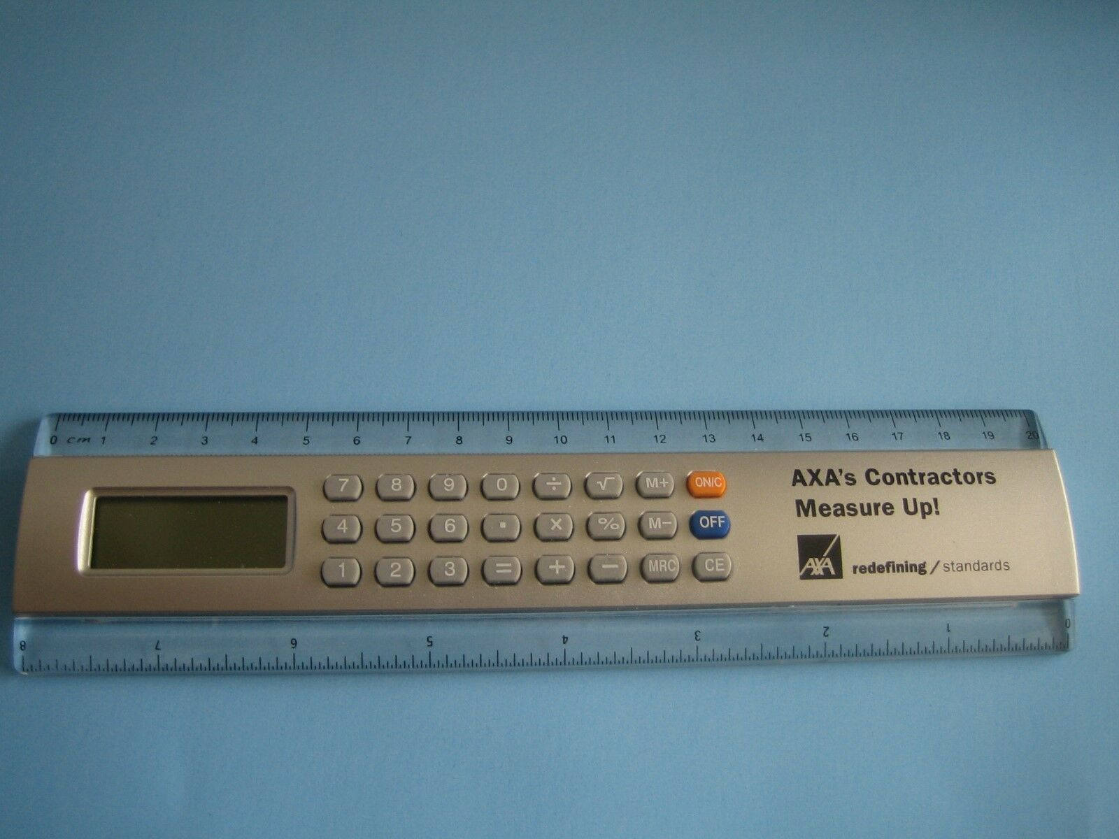AXA Insurance 8'' Ruler Calculator