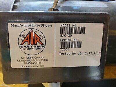0air Systems Bac-20portable Cool-air Ambient Air Pump