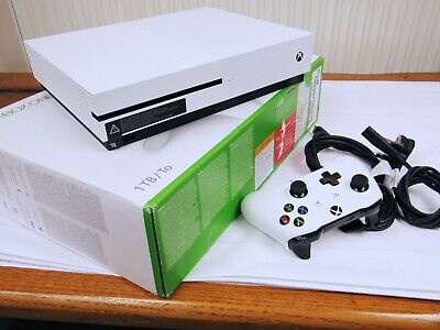 Microsoft Xbox One S White Console with 1 TB Hard-drive