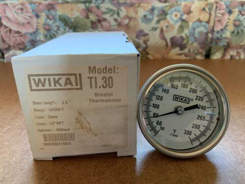 "WIKA MODEL TI.30 50/550F 2.5"" BIMETAL THERMOMETER"