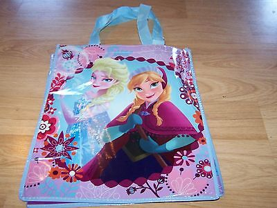 Disney Store Frozen Anna & Elsa Tote Halloween Bag Party Favor Reusable Blue