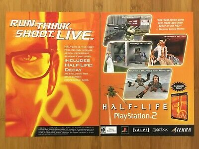 Half-Life PS2 Playstation 2 2001 Vintage Print Ad/Poster Official Authentic Art