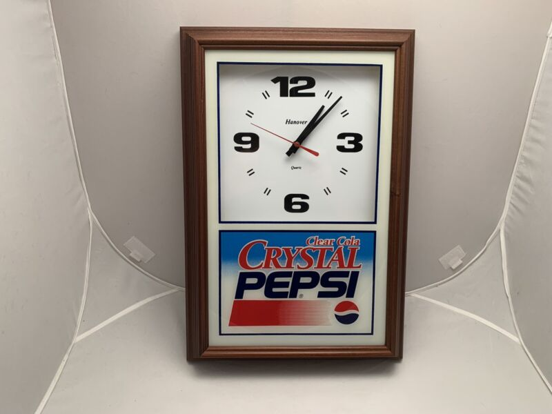 Vintage Pepsi Crystal Clear Clock