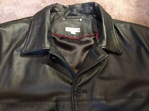 RESERVE Black LEATHER JACKET Size 3XL Mens Winter Coat Innaloo Stirling Area Preview