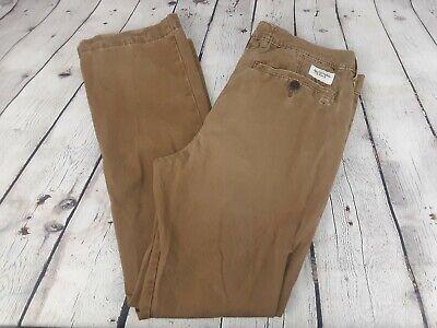 Mens Abercrombie & Fitch Khaki Caramel Chino Pants Sz 32 x 30 Khaki Dress