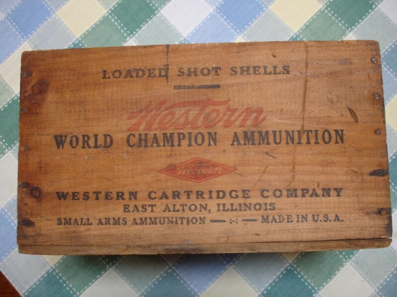 Vintage Wood Western Ammo Box 16 ga.