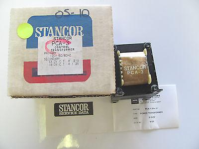 Stancor Pca-3 120v Pri 33vct 30va 21vdc 8.5vdc Dual Sec Transformer Nos