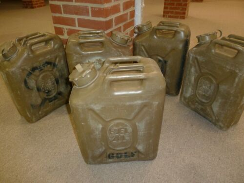 Scepter Olive Drab OD Military Fuel Can MFC 5 Gallon 20 L  MIL-C-53109 SURPLUS