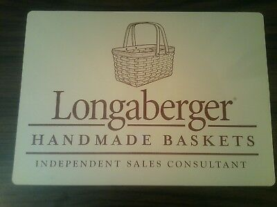 """Longaberger Handmade Baskets Independant Sales Consultant Magnetic Sign 10""""Hx14W"""