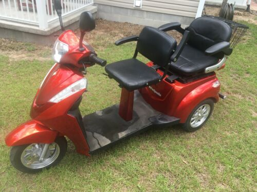 Ewheels Ew-66 2 Passenger Electric Mobility Scooter - Red
