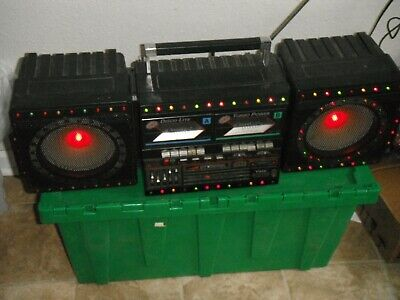 Vela Disco Lite DK-7000 Vintage radio Boombox with Disco lights As-IS