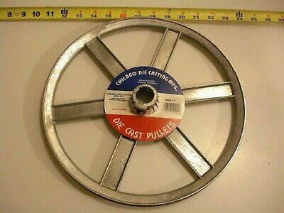 0472. Die Cast Pulley 12 Dia. 1 Bore V-belt A 6-spokes