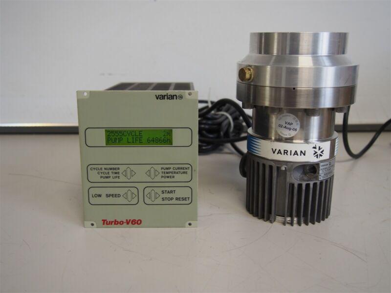 Varian Turbo-V70 TV70 Vacuum Pump With Turbo-V60 Controller