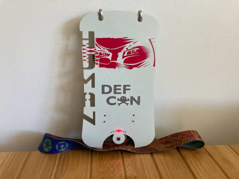 DEFCON 16 Electric Badge with lanyard